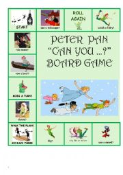 English worksheet: Peter Pan