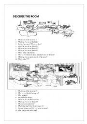 English Worksheet: Describing House
