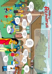 English Worksheet: Reporting verbs with the Simpsons