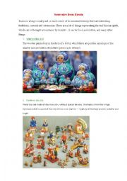 English Worksheet: Souvenirs from Russia
