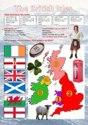 English worksheet: The British Isles