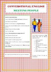 English Worksheet: Conversational English - Meeting people