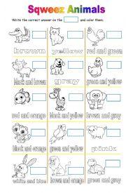English Worksheet: Farm, pet and zoo animals