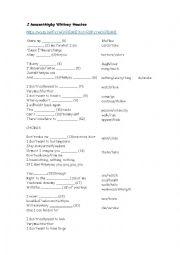 English Worksheet: I have nothing by Whitney Houston