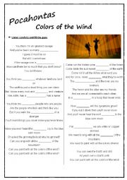 English Worksheet: Song