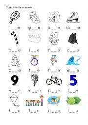 English Worksheet: Long vowels