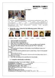 English Worksheet: Modern Family S1 x 5  The Coal Digger
