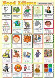 English worksheet: Food Idioms