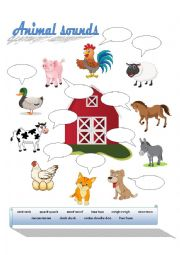 English Worksheet: Farm Animals Sounds