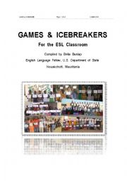 English Worksheet: GAMES  &  ICEBREAKERS      For  the  ESL  Classroom