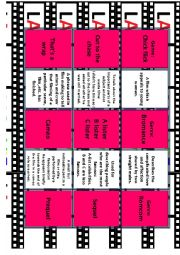 English Worksheet: FILMS AND MOVIES Vocabulary for IELTS Advanced- C1 Miniflashcards n Quiz 7/14