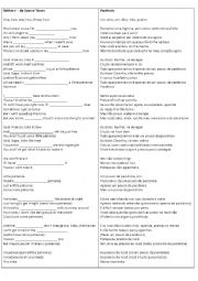 English Worksheet: Patience  - Guns N´ Roses