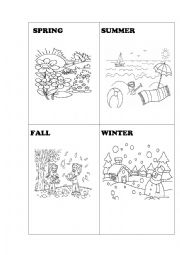 English worksheet: FOUR SEASONS