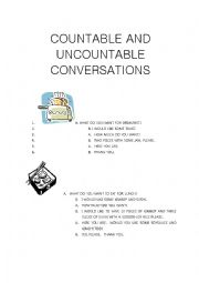 English worksheet: Countable and Uncountable