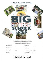 English worksheet: Summer School Activities