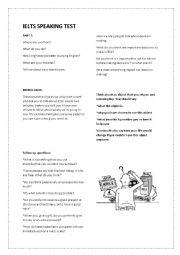 English Worksheet: IELTS SPEAKING complete exam