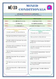 English Worksheet: Mixed Conditionals