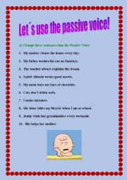 Let´s practice Passive Voice in the Present!