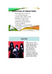 English Worksheet: Urban Tribes: worksheet1