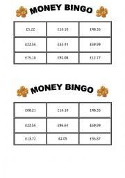 money bingo esl worksheet by semaj2. Black Bedroom Furniture Sets. Home Design Ideas