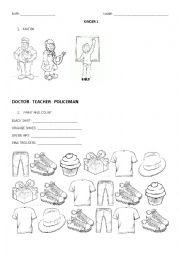 English Worksheet: Test kinder 1