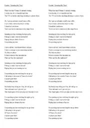 English Worksheet: SONG - Spending my time - Roxette