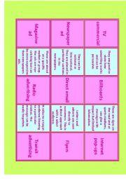 English Worksheet: Advertising Vocabulary for IELTS Advanced- C1 Miniflashcards 1/14