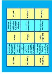 English Worksheet: Art Vocabulary for IELTS Advanced- C1 Miniflashcards 2/14