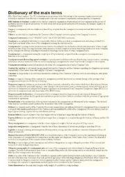 English Worksheet: Logistics Term