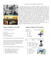 English Worksheet: Can or could - Reading comprehension