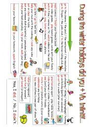 English Worksheet: Brainstorming Winter Holidays