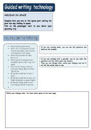 English Worksheet: Guided writing: technology