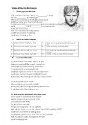 English Worksheet: Ed Sheeran