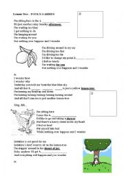 English Worksheet: Listening sheet - Lemon tree