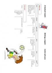 English Worksheet: Writing a report