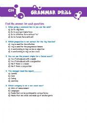 English Worksheet: Grammar Drill - C1 Levele