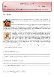 English worksheet: School /School life test