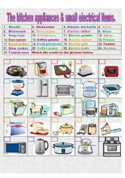The kitchen appliances