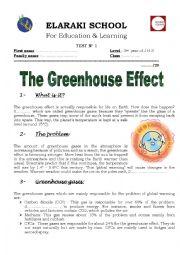 English Worksheet: global warming