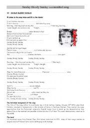 English Worksheet: U2 Sunday Bloody Sunday