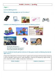 English Worksheet: Video games ; advantages / disadvantages