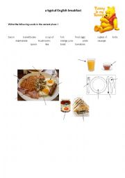 English Worksheet: Typical English breakfast