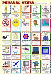 English worksheet: Phrasal verbs