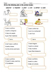 English worksheet: Jobs (1)