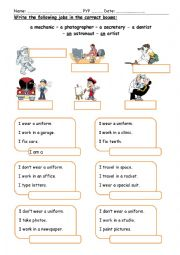 English worksheet: Jobs (2)