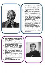 English Worksheet: Reading Circles: Nelson Mandela and Dr. Maya Angelou