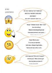 English Worksheet: ECHO QUESTIONS