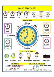English Worksheet: Telling time_Presentation
