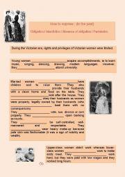 Women in the Victorian era : obligation, interdiction and permission