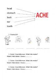 English worksheet: health problems